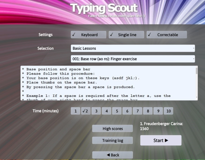 typing scout learn zone